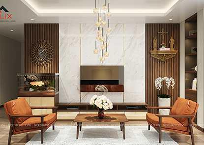 Thiết kế nội thất 100M2 3 PHÒNG NGỦ